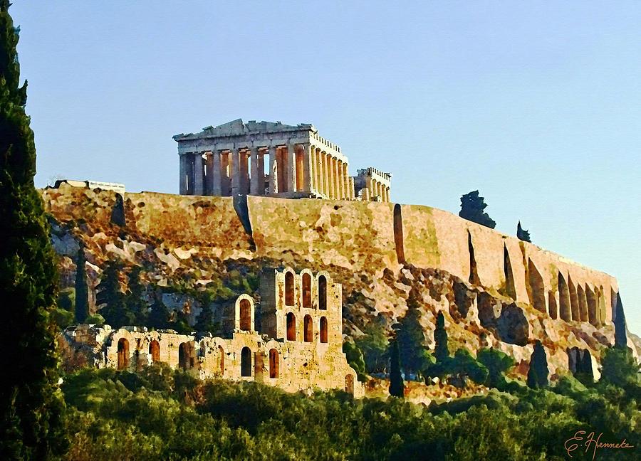 Acropolis Painting - Acropolis by Ellen Henneke