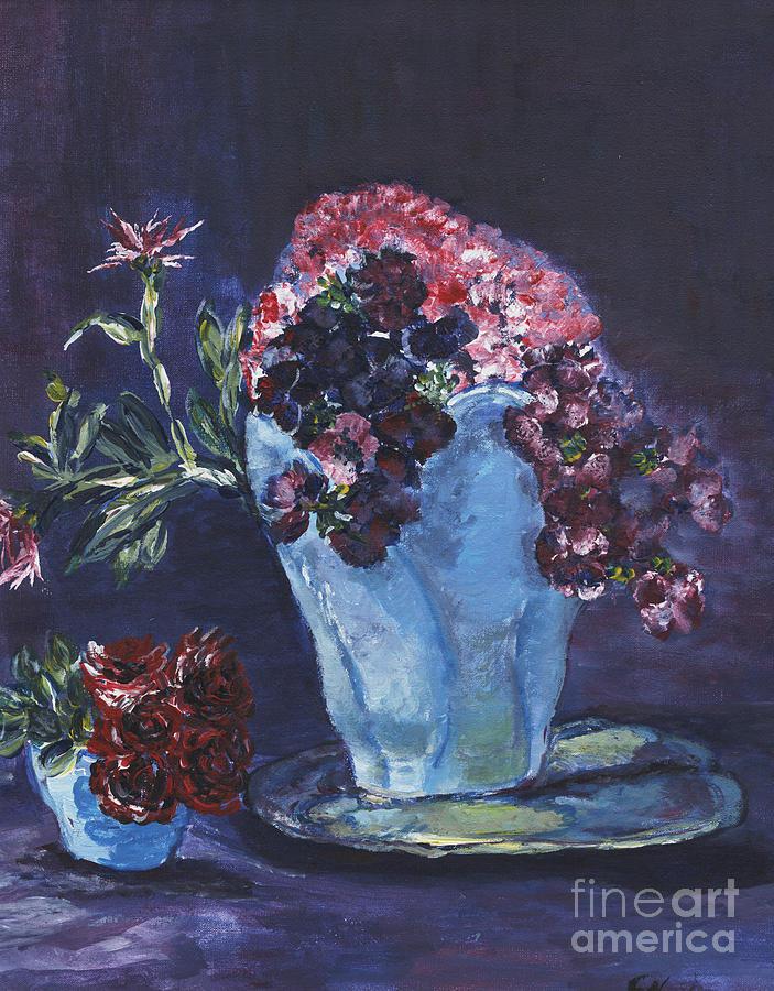 Flowers Painting - Admire by Helena Bebirian