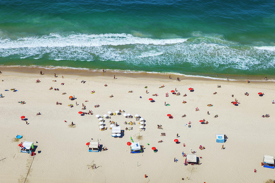 Aereal View Of Copacabana Beach In Rio Photograph by Gonzalo Azumendi