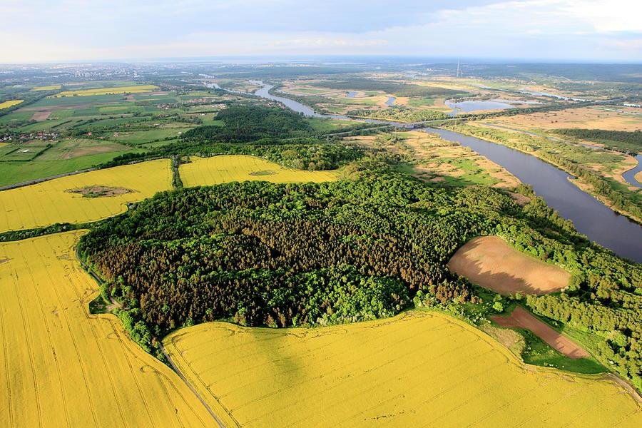 Aerial Photo Of Farmland Photograph by Dariuszpa