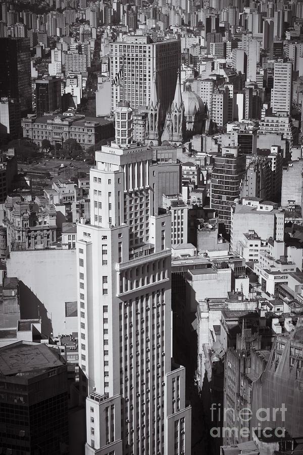 Brasil Photograph - Aerial View Of Sao Paulo by Ricardo Lisboa