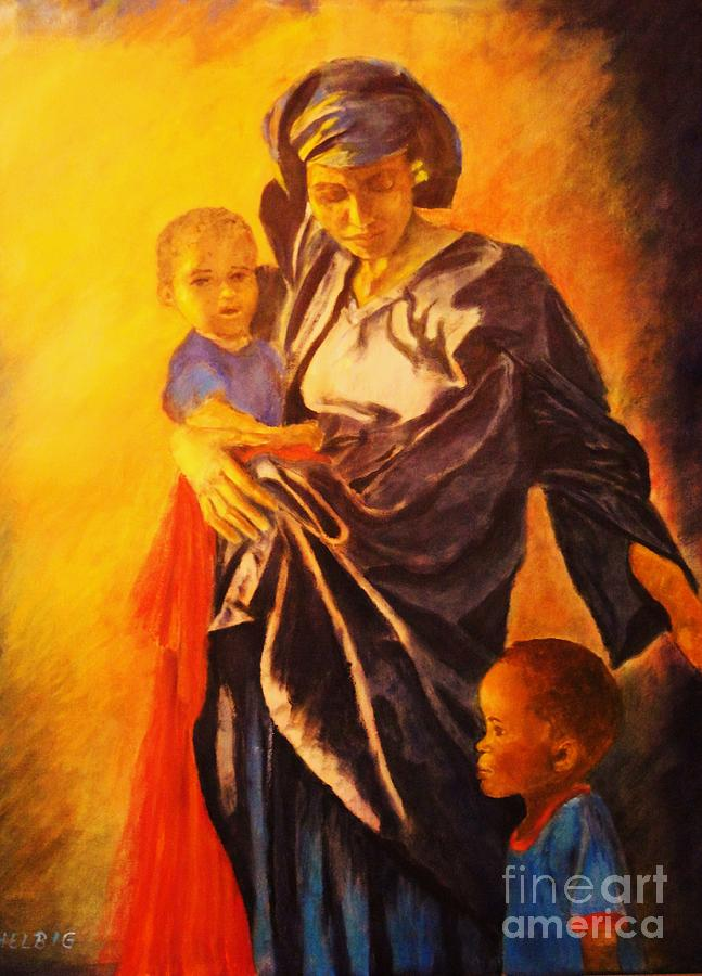 Painted Lady Painting - African Madonna by Dagmar Helbig