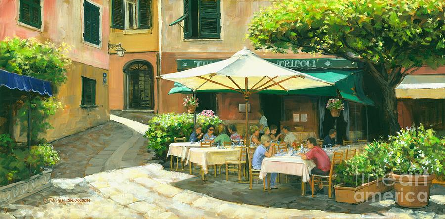Italian Landscape Painting - Afternoon Delight by Michael Swanson
