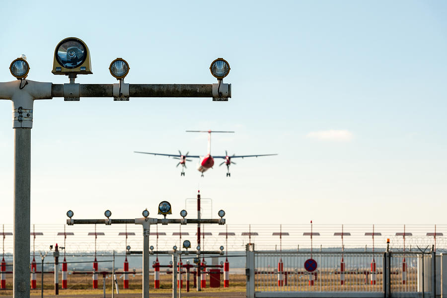 Airport Landing Lights by Frank Gaertner