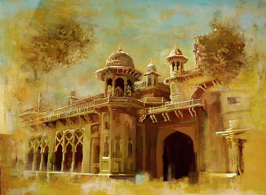 Pakistan Painting - Aitchison College by Catf