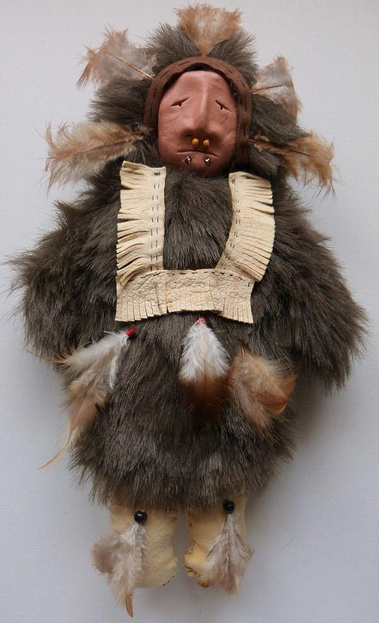 Native American Doll Mixed Media - Alaskan Eskimo Doll by Lucy Deane