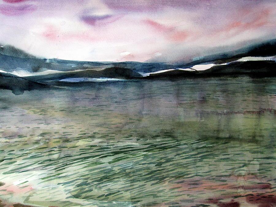 Alaska Painting - Alaskan Waters by Mindy Newman