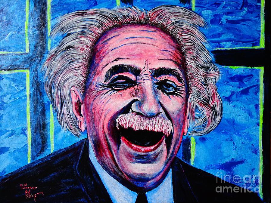 Human Painting - Albert Einstein by Viktor Lazarev