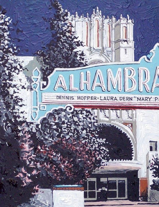 Sacramento Painting - Alhambra Theatre by Paul Guyer