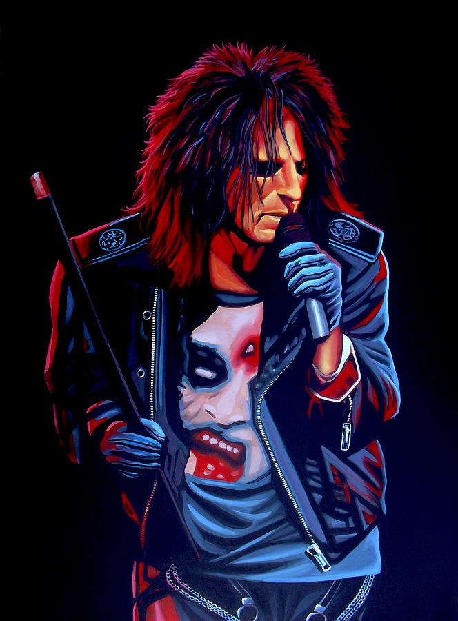 Alice Cooper Painting - Alice Cooper  by Paul Meijering