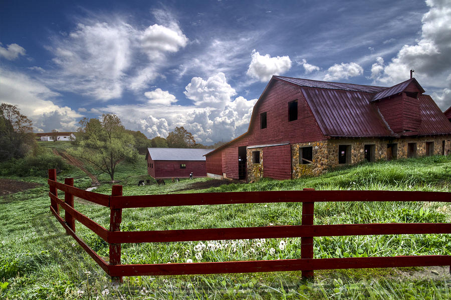Clouds Photograph - All American by Debra and Dave Vanderlaan