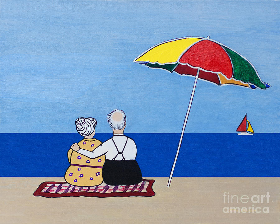Couple Painting - Always Together by Barbara McMahon