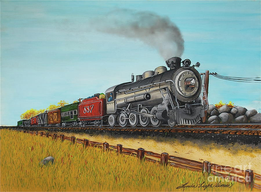 Acrylic Painting Painting - American Express by Linda Simon