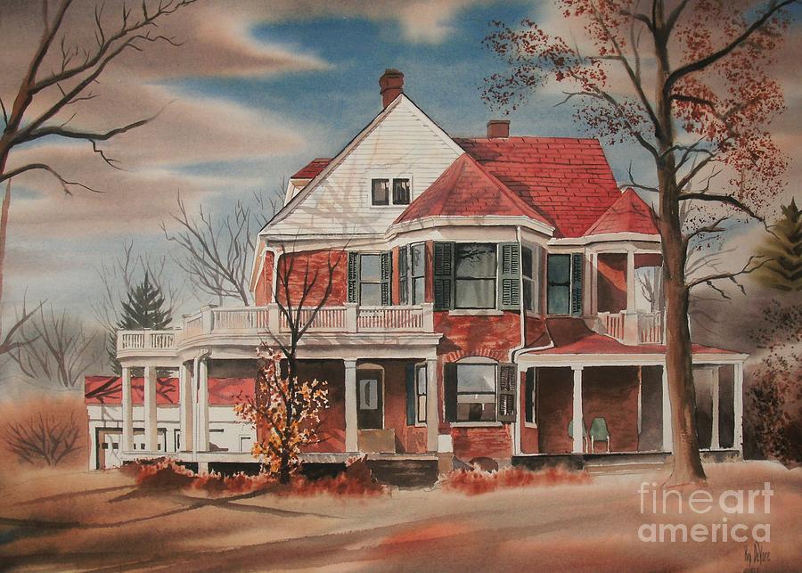 American Home Iii Painting - American Home IIi by Kip DeVore