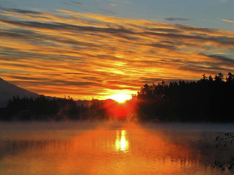 Lakewood Washington Photograph - American Lake Sunrise by Tikvahs Hope