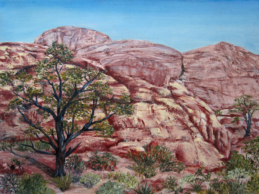 Landscape Painting - Among The Red Rocks by Roseann Gilmore