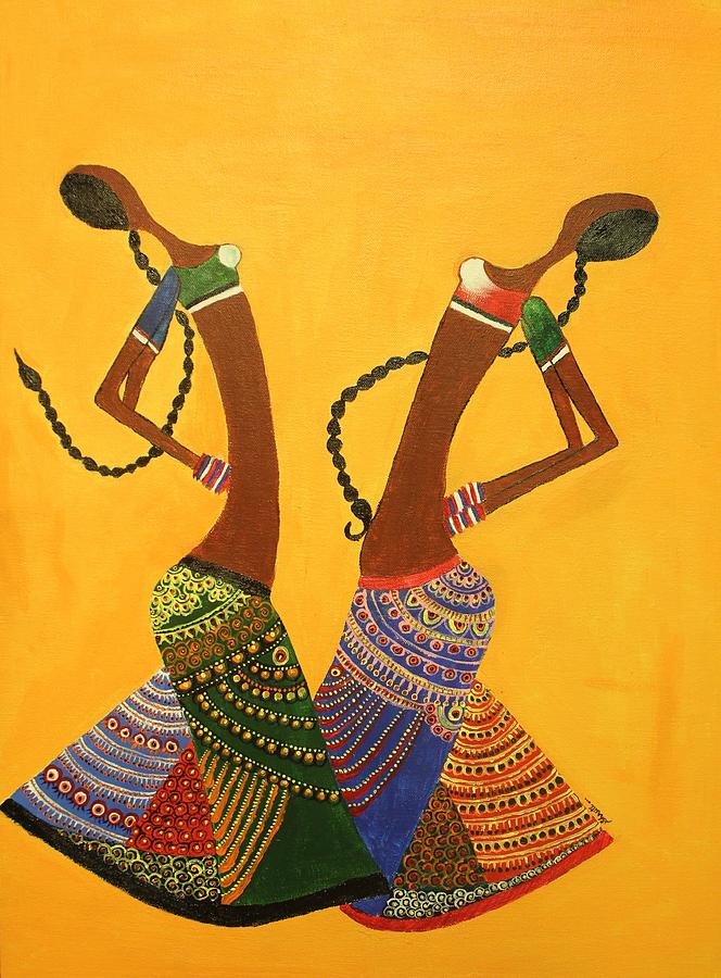 Ethnic Painting - An Indian Dance Form by Shruti Prasad