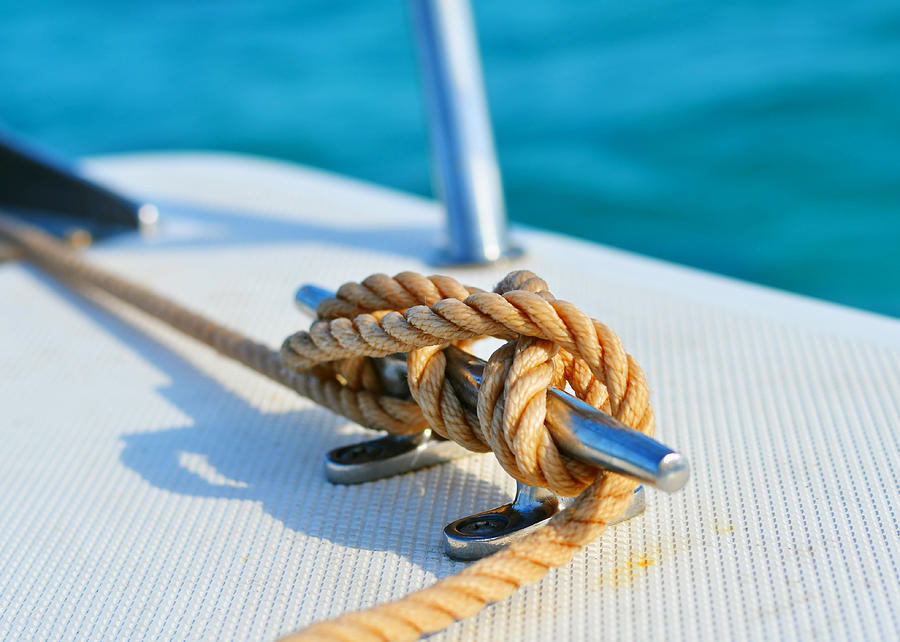 Sailors Knot Photograph - Anchor Line by Laura Fasulo