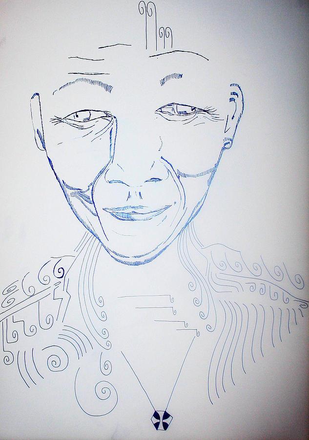 Jesus Drawing - Angel Madiba - Nelson Mandela by Gloria Ssali
