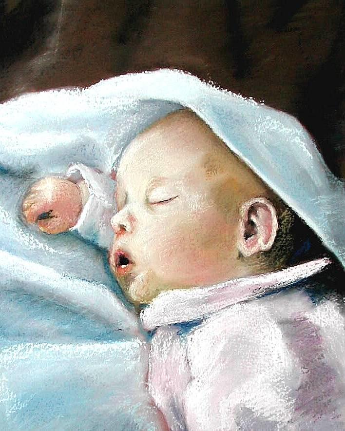 Baby Pastel - Angel Sleeping by Lenore Gaudet