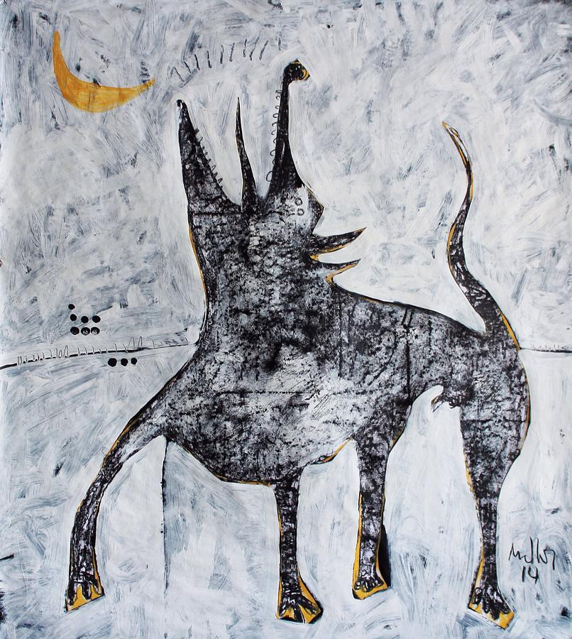 Abstract Painting - ANIMALIA Canis No. 7  by Mark M  Mellon