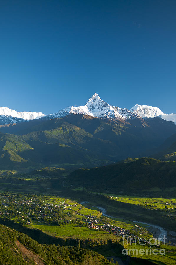 Annapurna Photograph - Annapurna Peak - Nepal by Ricardo Lisboa