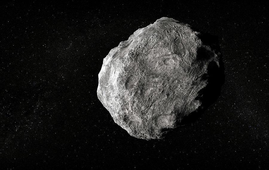 Asteroid, Artwork Digital Art by Andrzej Wojcicki