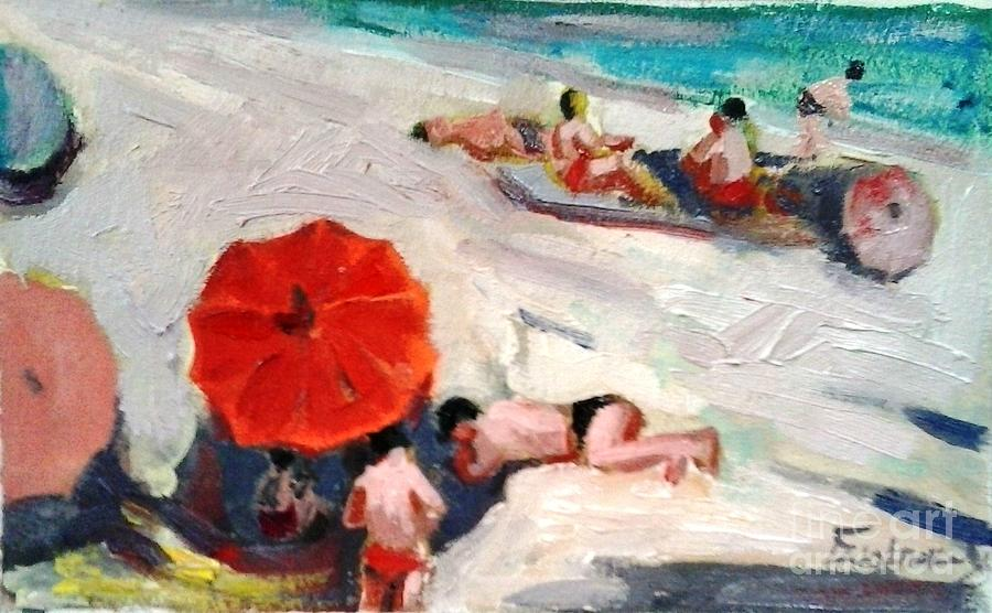 At The Beach Painting by George Siaba