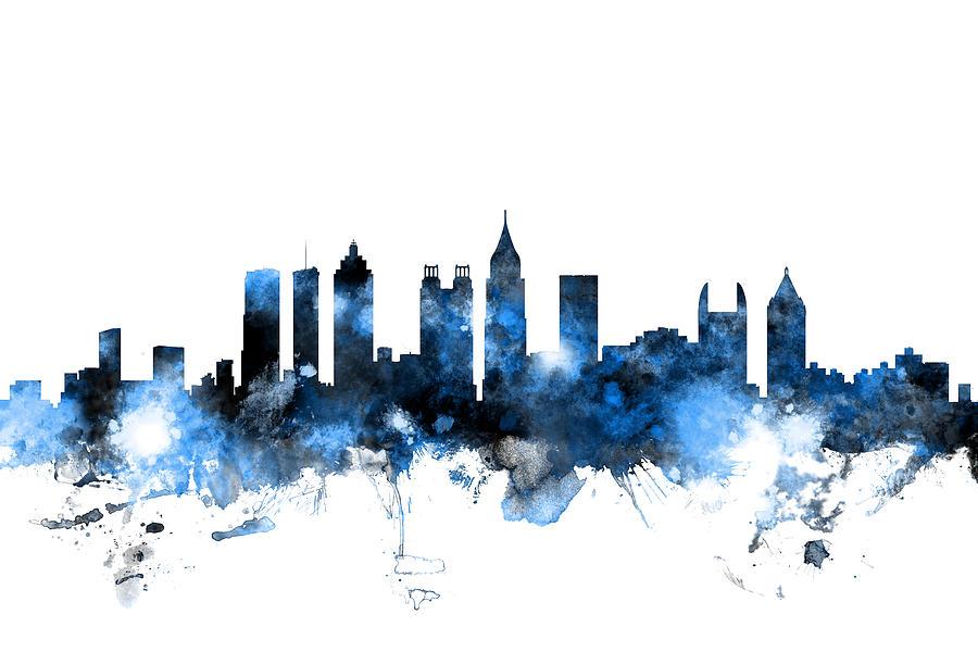United States Photograph - Atlanta Georgia Skyline by Michael Tompsett