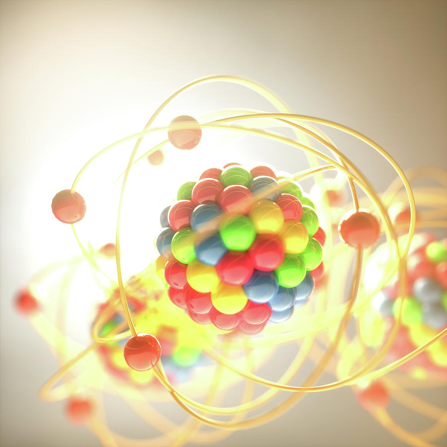 Nobody Photograph - Atomic Model by Ktsdesign/science Photo Library