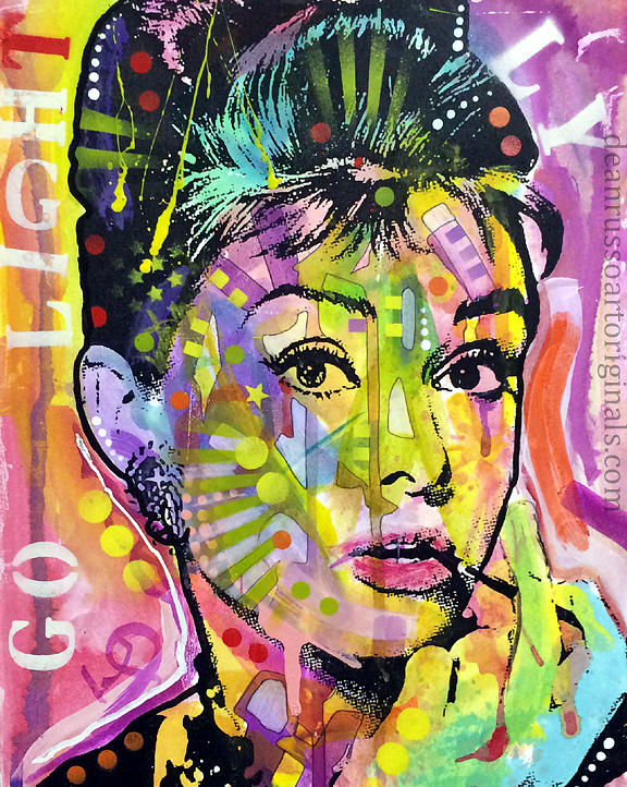 Audrey Hepburn Painting - Audrey Hepburn by Dean Russo