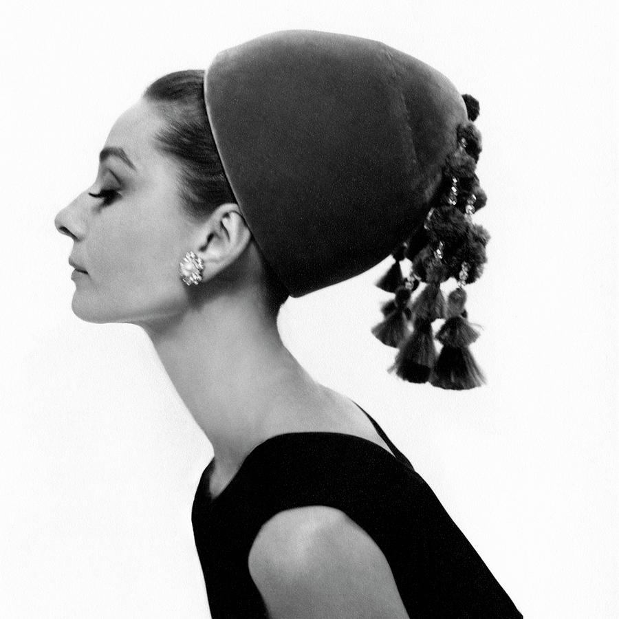 Audrey Hepburn Wearing A Givenchy Hat 1 Photograph by Cecil Beaton