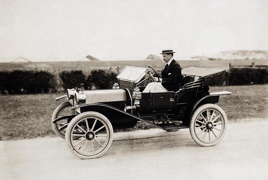 1915 Photograph - Automobile, C1915 by Granger
