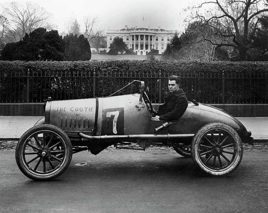 1922 Photograph - Automobiles Racing by Granger