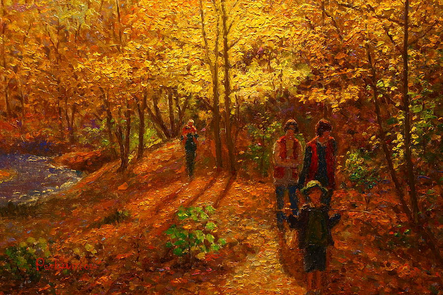 Autumn Bush Creek Track  Painting by Terry Perham