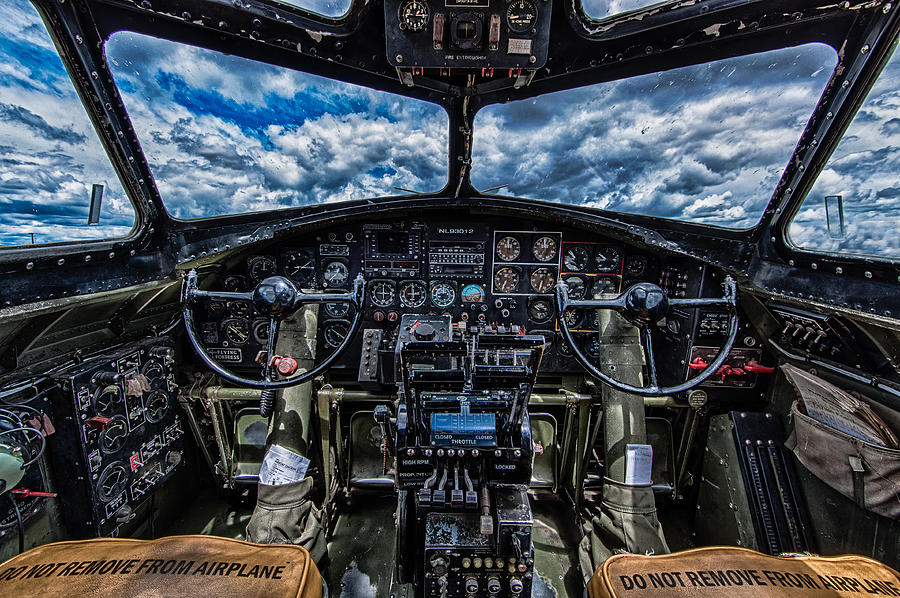 b 17 cockpit photograph by mike burgquist