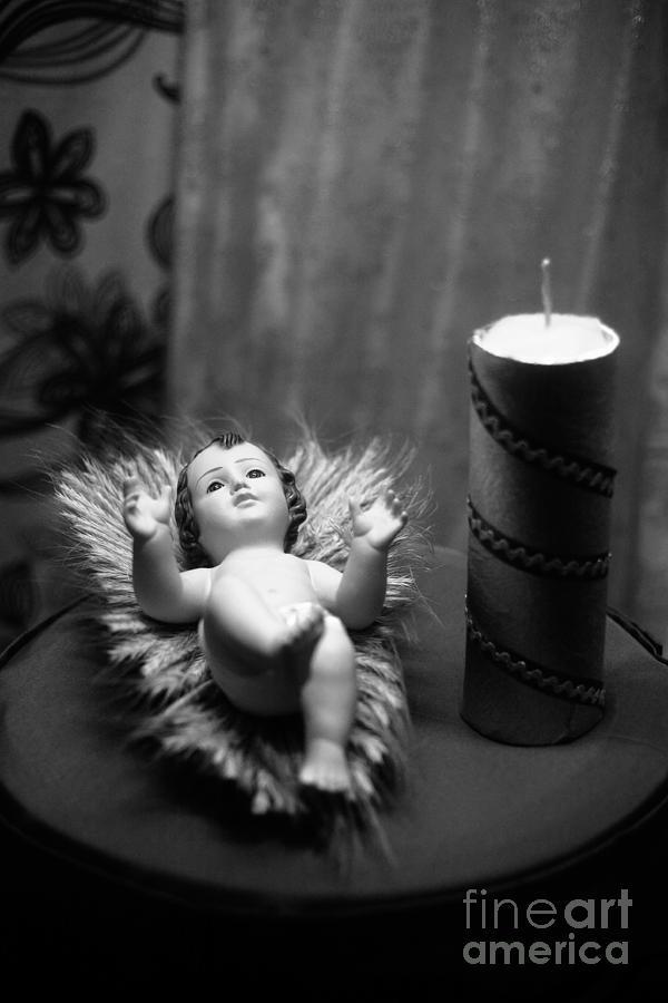Christmas Photograph - Baby Jesus by Gaspar Avila
