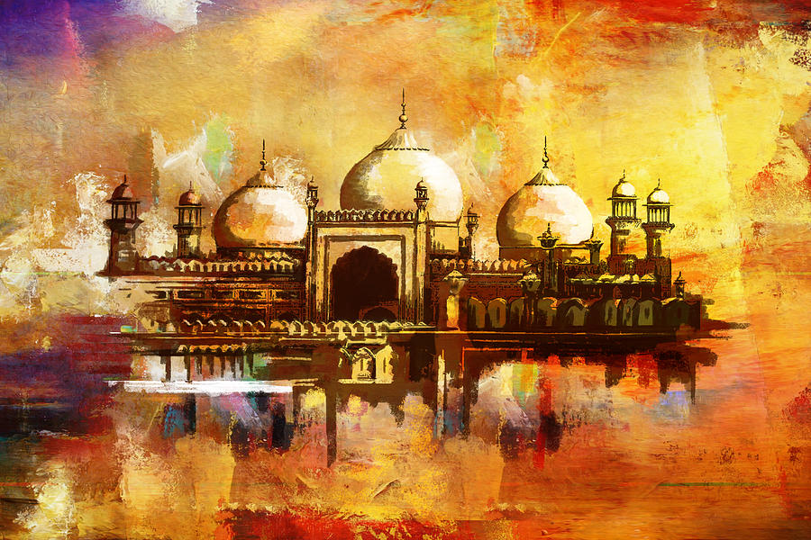 Badshahi Mosque Painting By Catf
