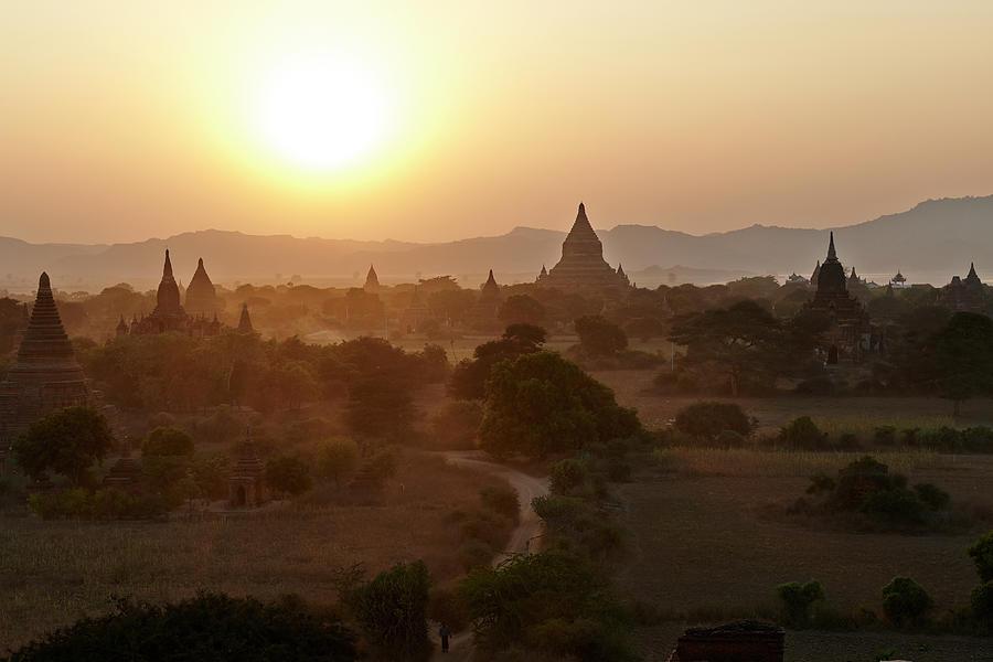 Bagan Ancient Site, Myanmar, Burma Photograph by Andrea Pistolesi
