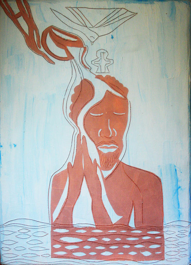 Jesus Painting - Baptism Of The Lord Jesus by Gloria Ssali