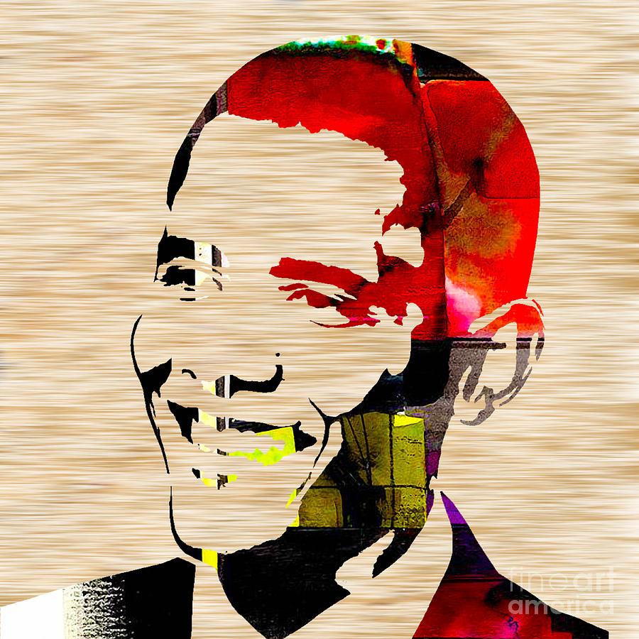 Portrait Mixed Media - Barack Obama by Marvin Blaine