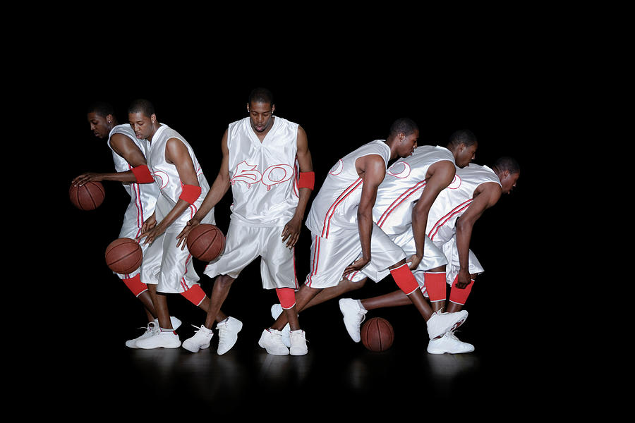 Basketball Photograph - Basketballer Dribbling by Gustoimages/science Photo Library
