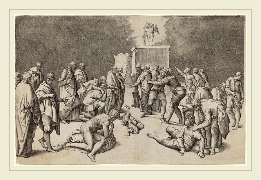 Italian Drawing - Battista Franco Italian, Probably 1498-1561 by Litz Collection