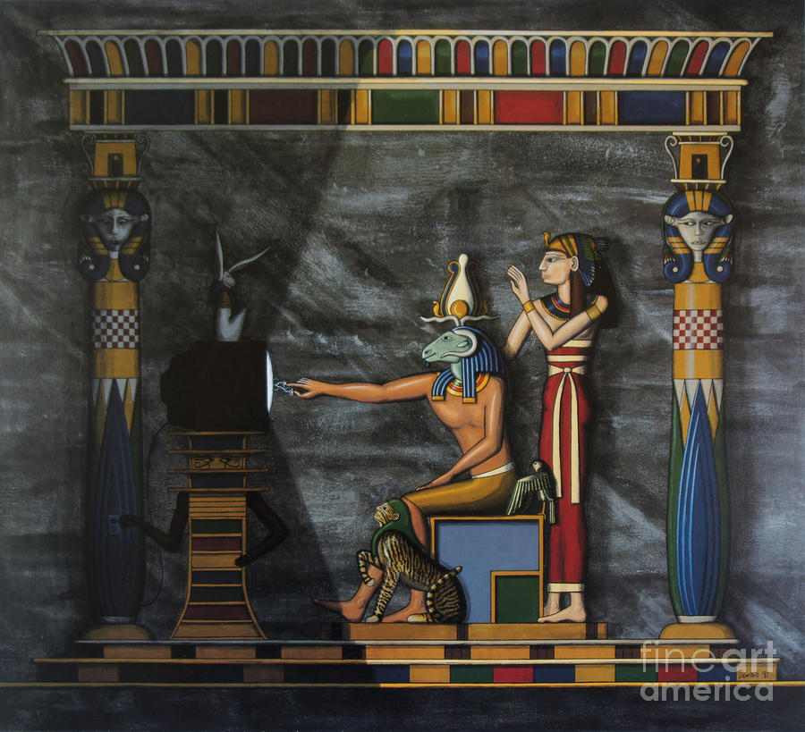 Egypt Painting - B.c.  Before Cable by Richard Deurer