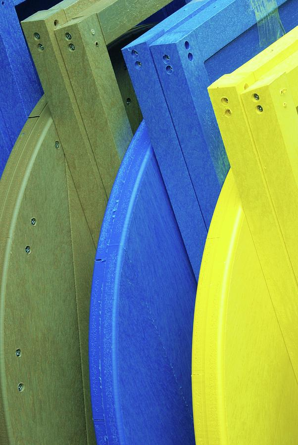 Color Photograph - Beach Chair Palette  by Allen Beatty