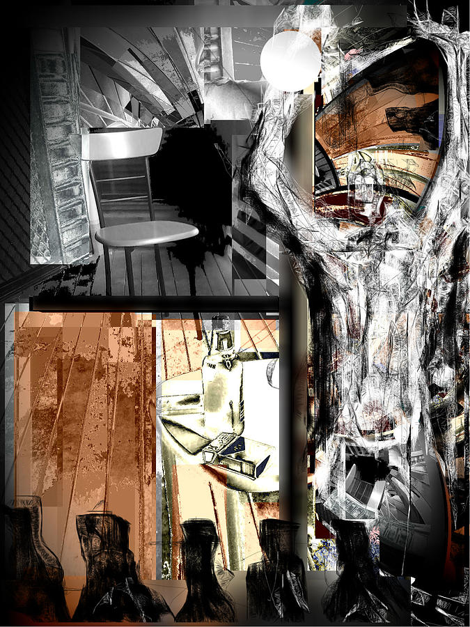 Chair Mixed Media - Before The After Life by Rc Rcd
