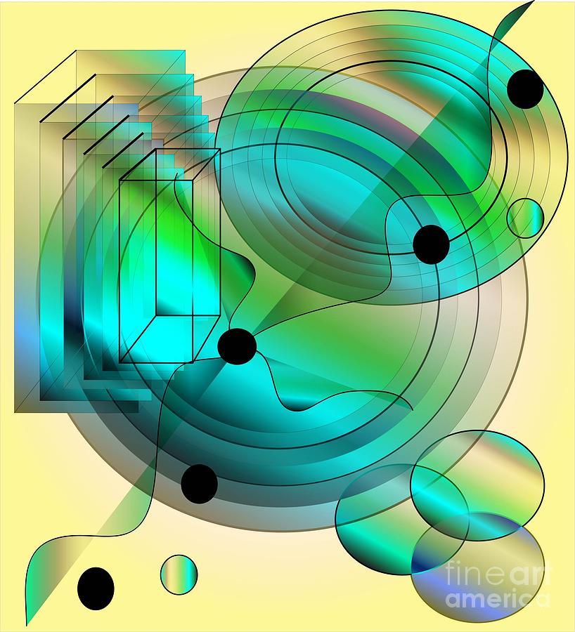 Abstract Digital Art - Begin Again by Iris Gelbart