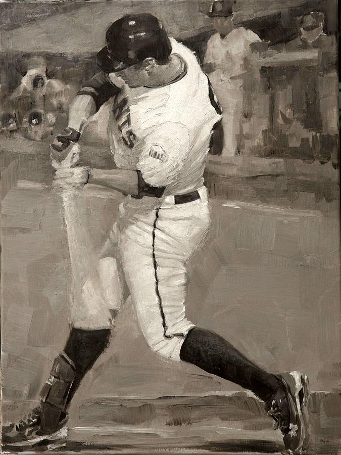 Brandon Belt Painting - Belted Over First by Darren Kerr