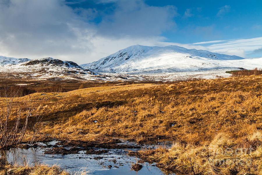 Cairngorms Photograph - Ben Vrackie In Winter Scotland by Gabor Pozsgai