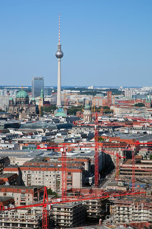 Berlin Photograph - Berlin Cathedral And Tv Tower by Michal Bednarek